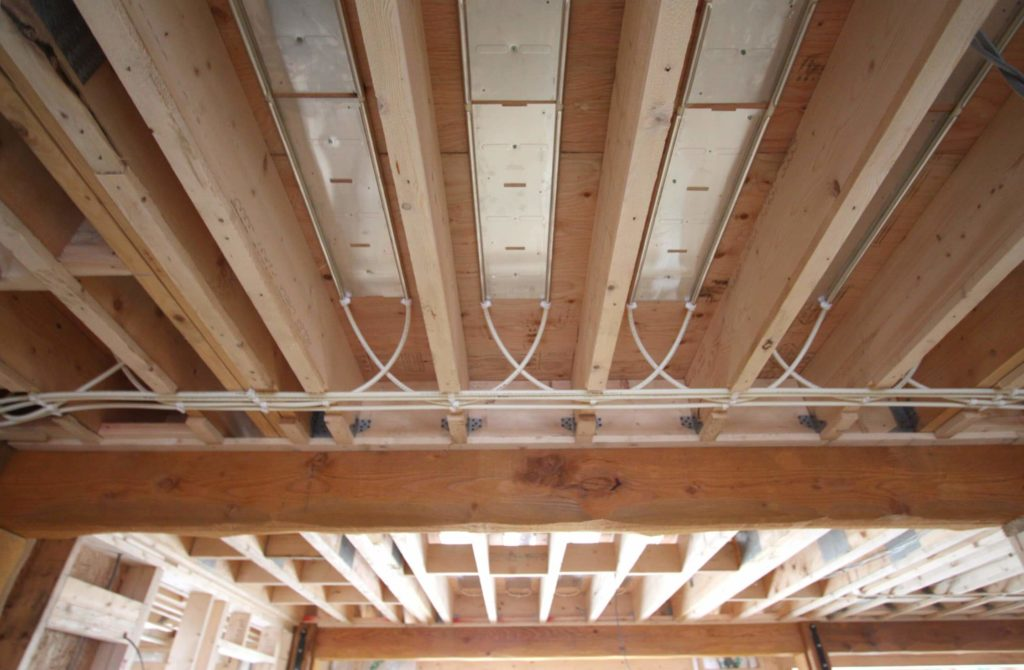 Underfloor heating joists