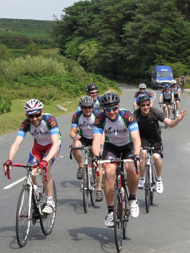 The Nu-Heat cyclists on the charity ride