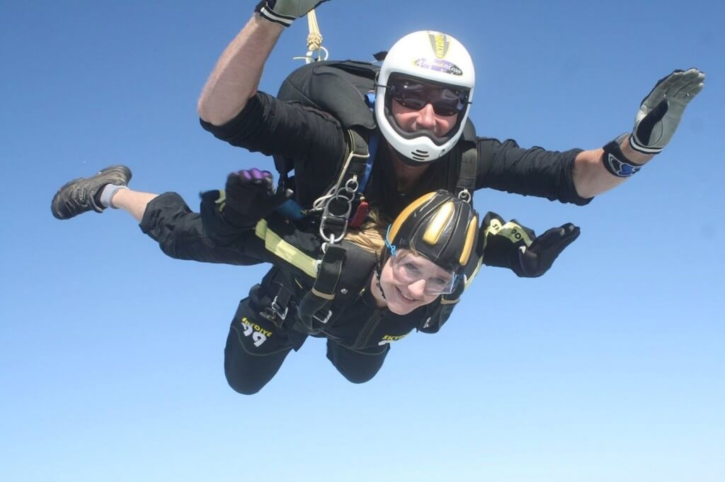 Nicola jumps out of a plane!