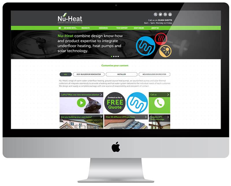 New Nu-Heat website