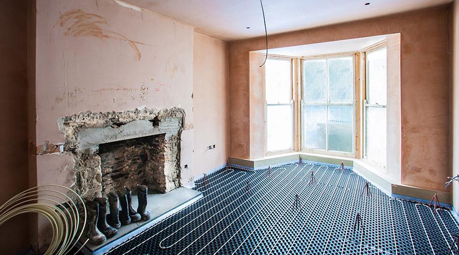 Underfloor heating in renovation