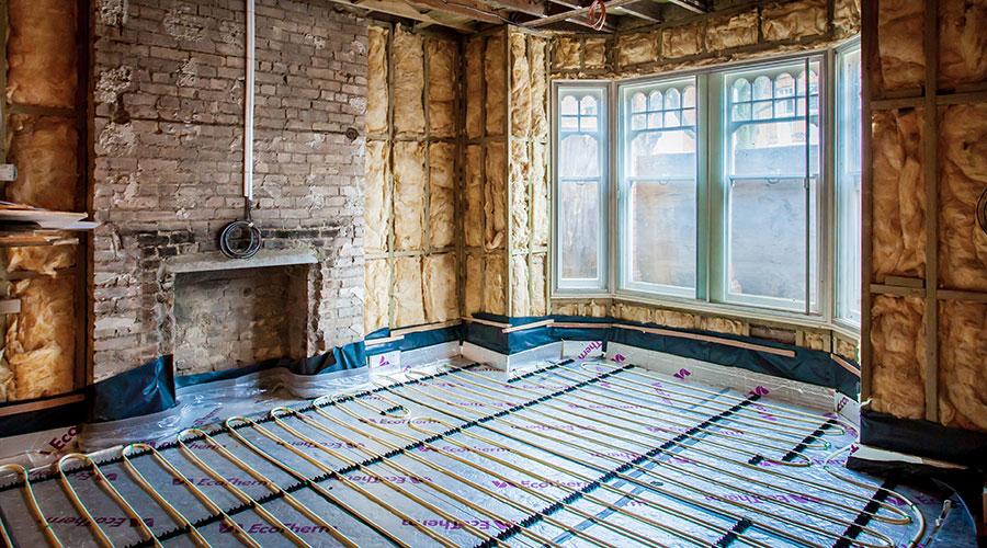 Hampstead property underfloor heating