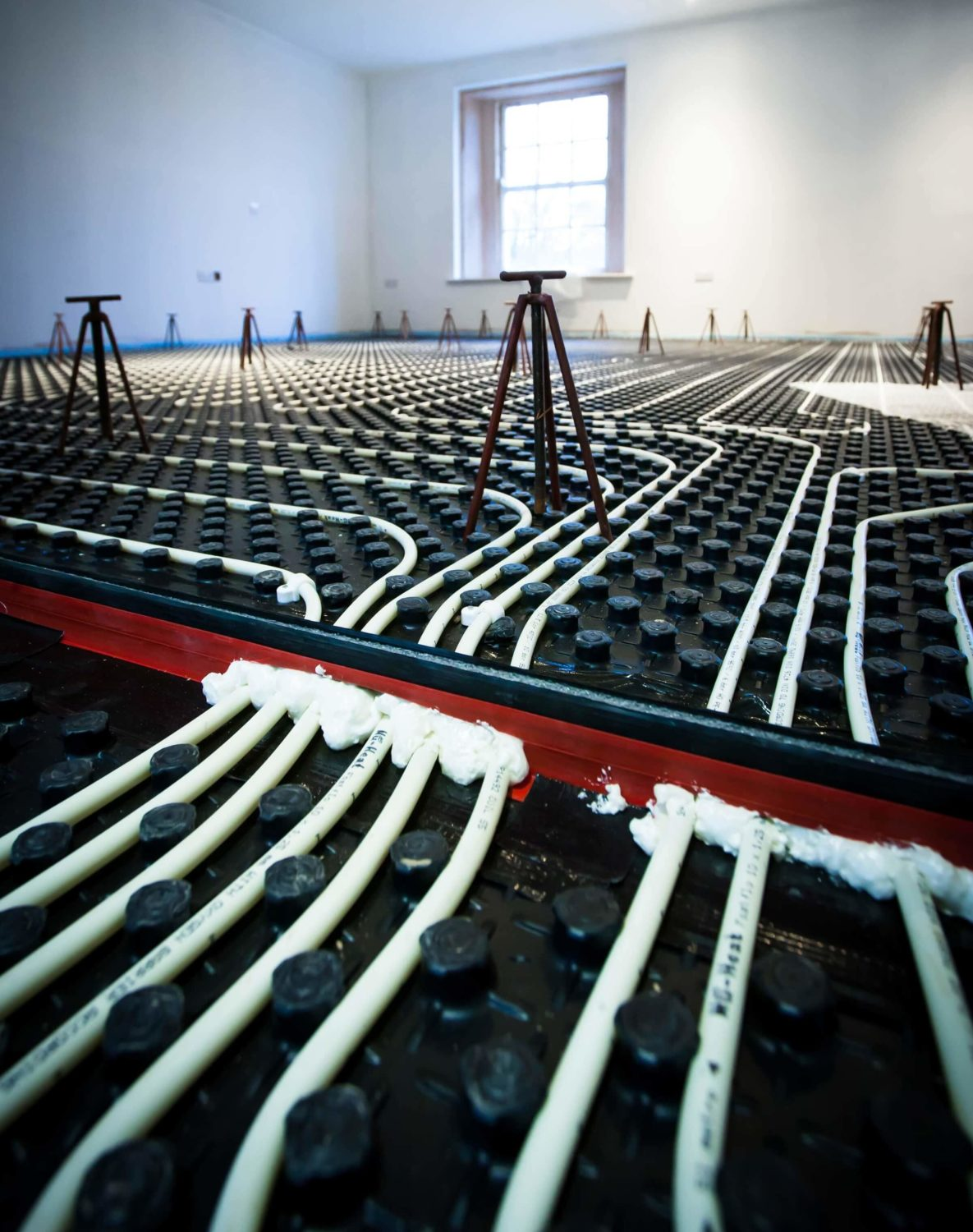 Underfloor heating expansion joints