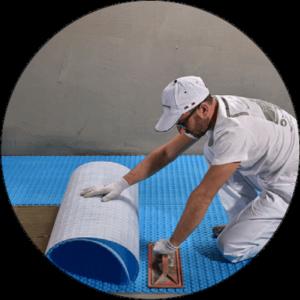Electric underfloor heating install 1