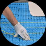 Electric underfloor heating - installation step 3