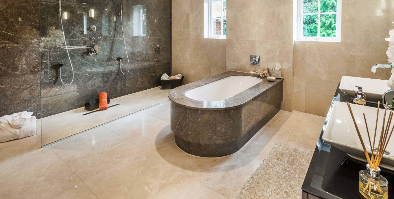 Electric underfloor heating (UFH) in bathroom