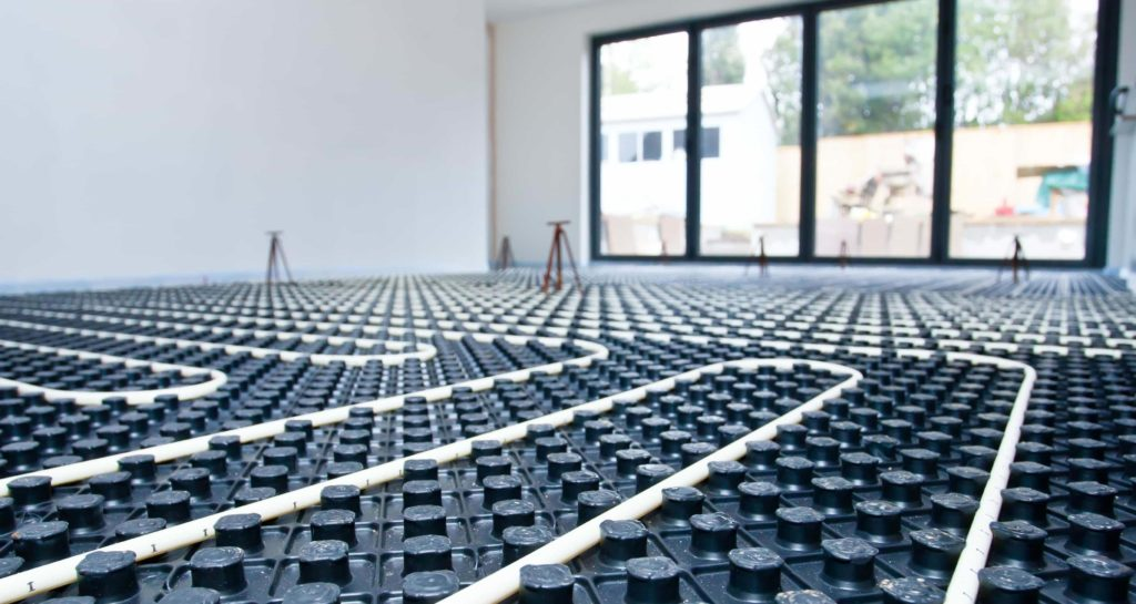 Using condensing boilers with underfloor heating