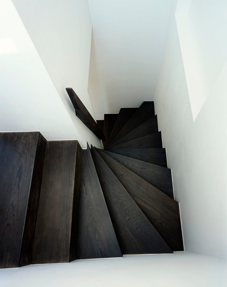 Westbourne Grove London property refurbishment - oak staircase