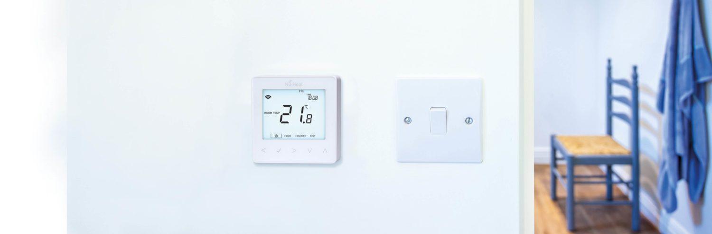 neoStat underfloor heating thermostat on wall