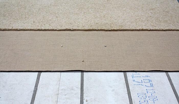 Retrofit UFH carpet