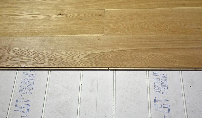 Retrofit UFH hardwood