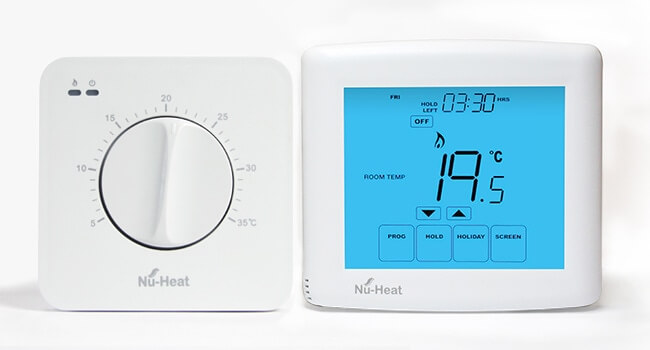 Dial thermostat underfloor heating controls