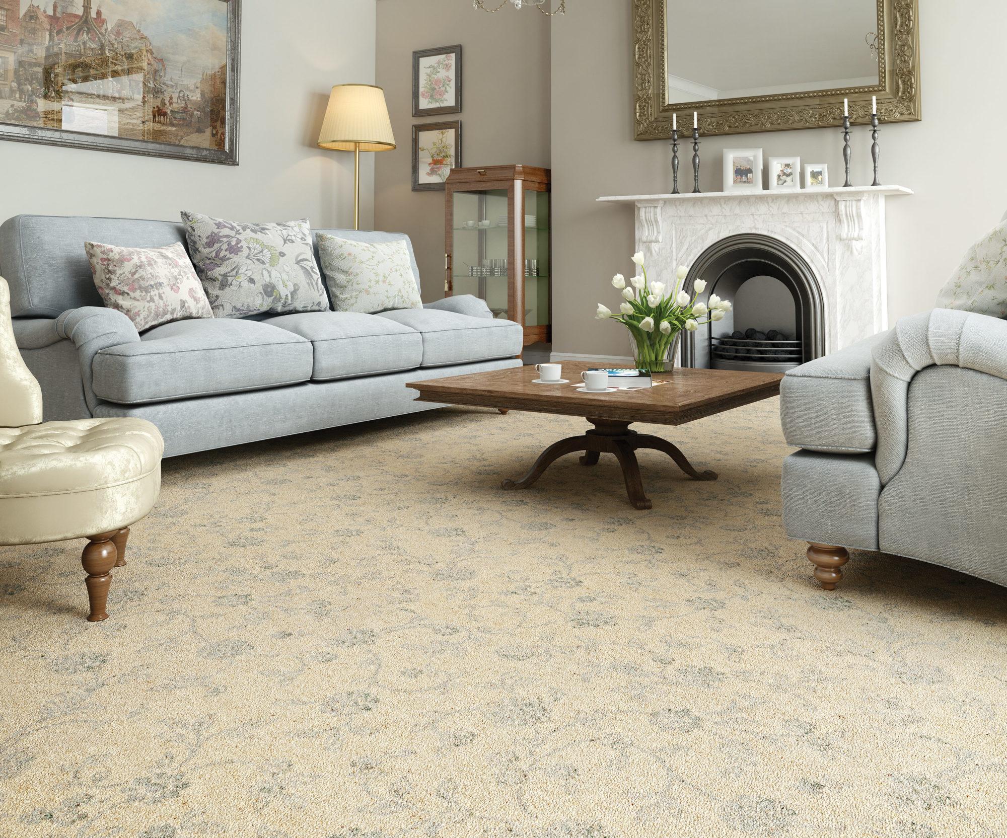 Underfloor heating with carpet