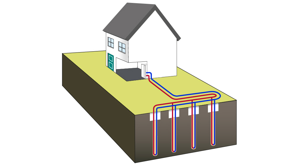 Ground Source Heat Pump Borehole Diagram