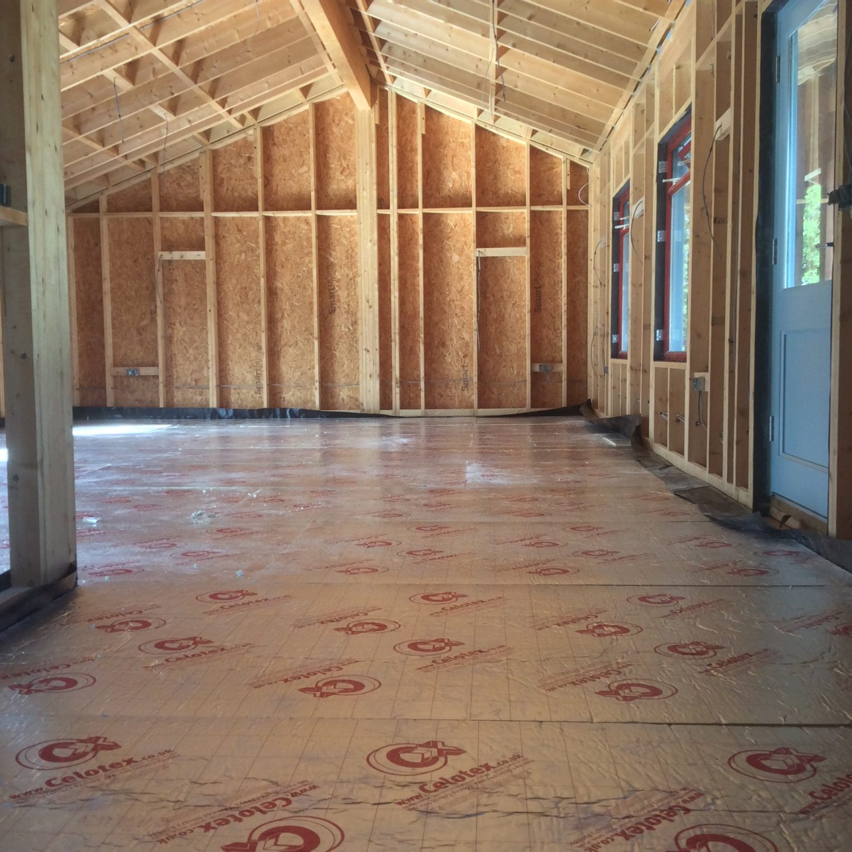 Insulation for underfloor heating