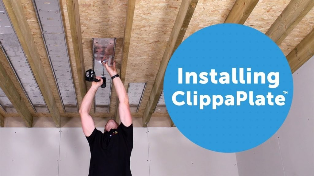 Installing Clippaplate first floor underfloor heating