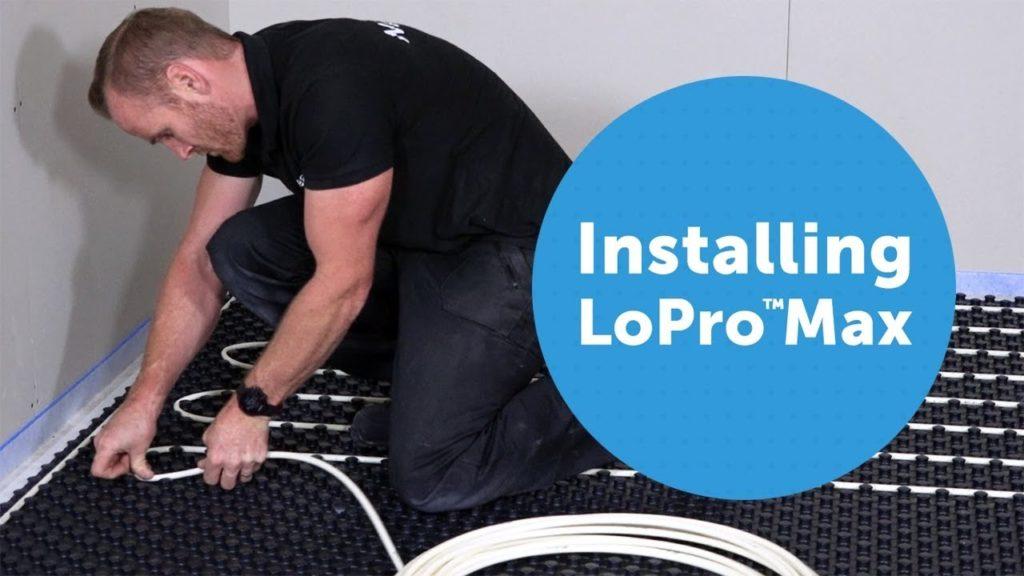 Installing LoProMax retrofit underfloor heating