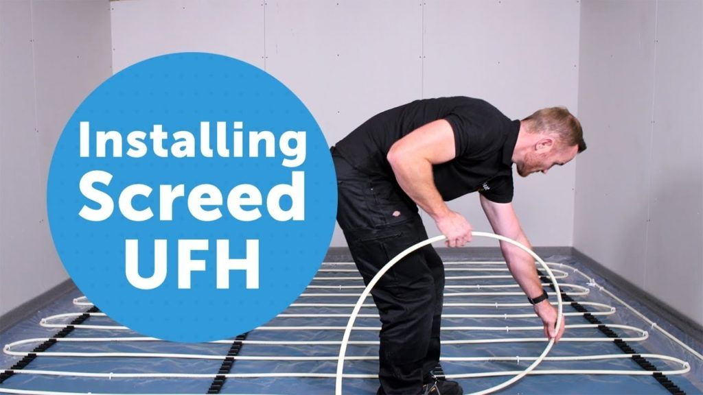 Installing screed underfloor heating