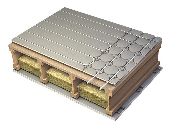 Acoustic underfloor heating
