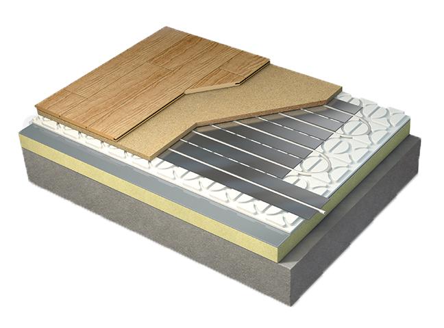 Floating underfloor heating
