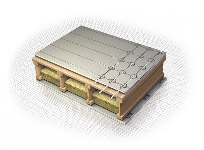 Acoustic ufh for new builds