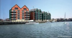 Riverside apartments with acoustic UFH