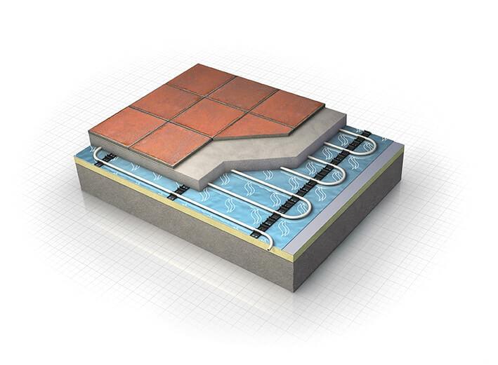 Underfloor heating for new builds